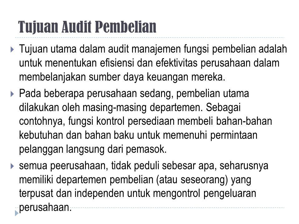 Tujuan Audit Pembelian
