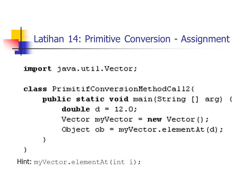 Latihan 14: Primitive Conversion - Assignment