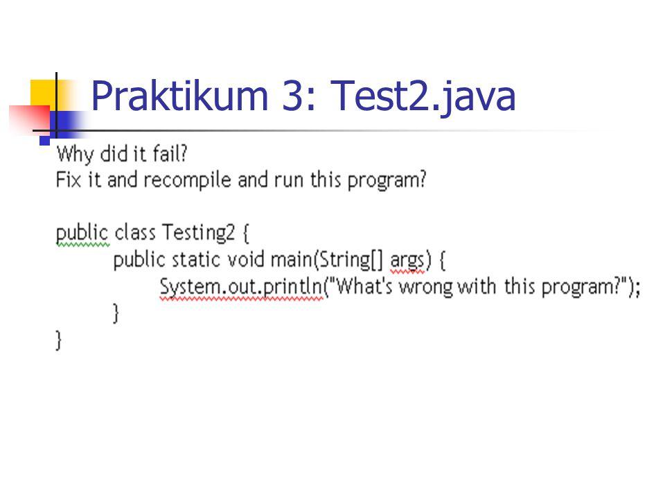 Praktikum 3: Test2.java