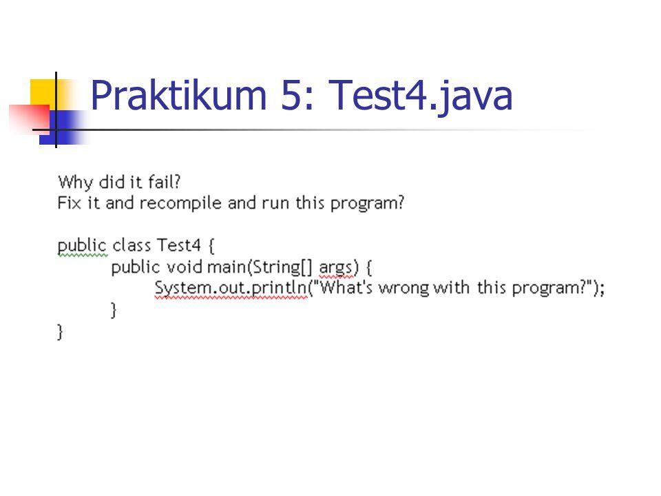 Praktikum 5: Test4.java