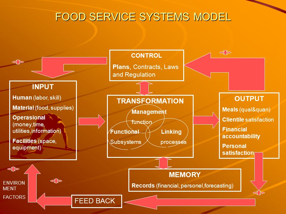 FOOD SERVICE SYSTEMS MODEL