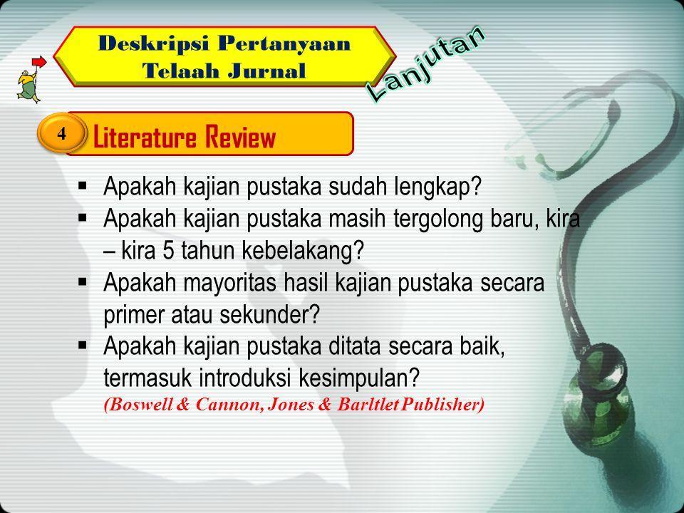 Deskripsi Pertanyaan Telaah Jurnal