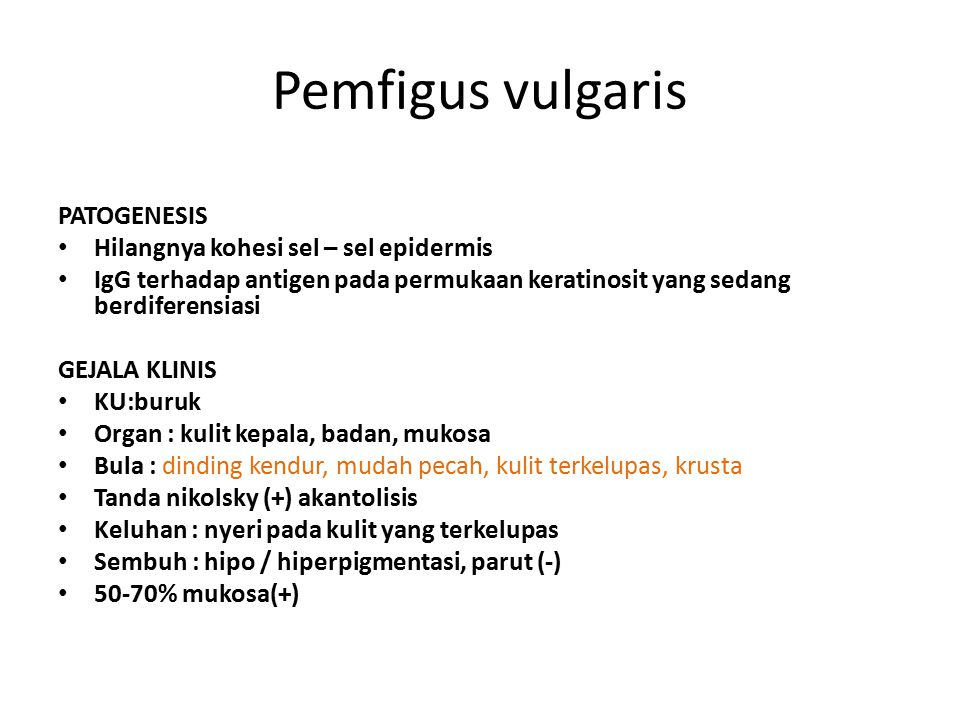 Pemfigus vulgaris PATOGENESIS Hilangnya kohesi sel – sel epidermis