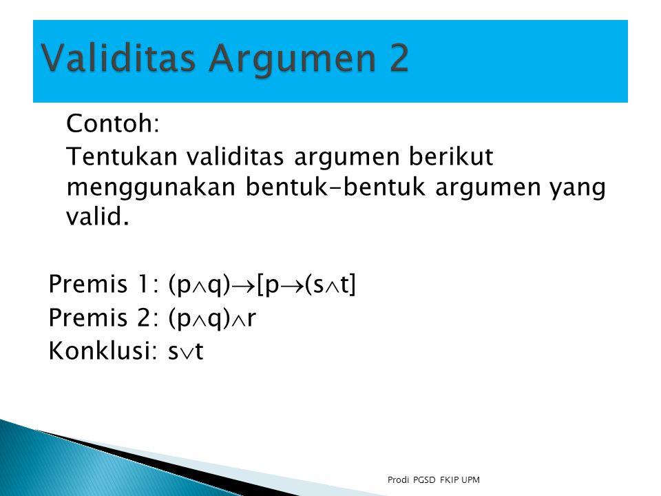Validitas Argumen 2