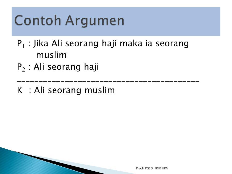 Contoh Argumen