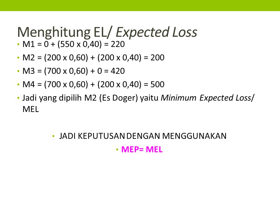 Menghitung EL/ Expected Loss