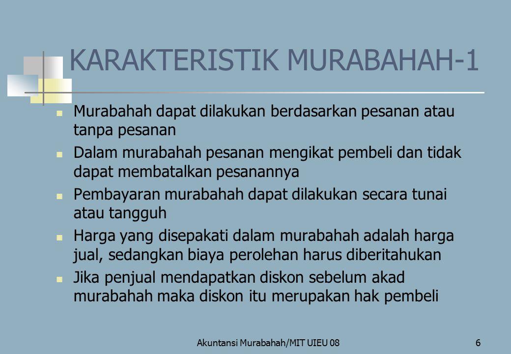 KARAKTERISTIK MURABAHAH-1