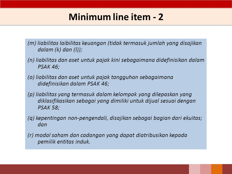 Minimum line item - 2