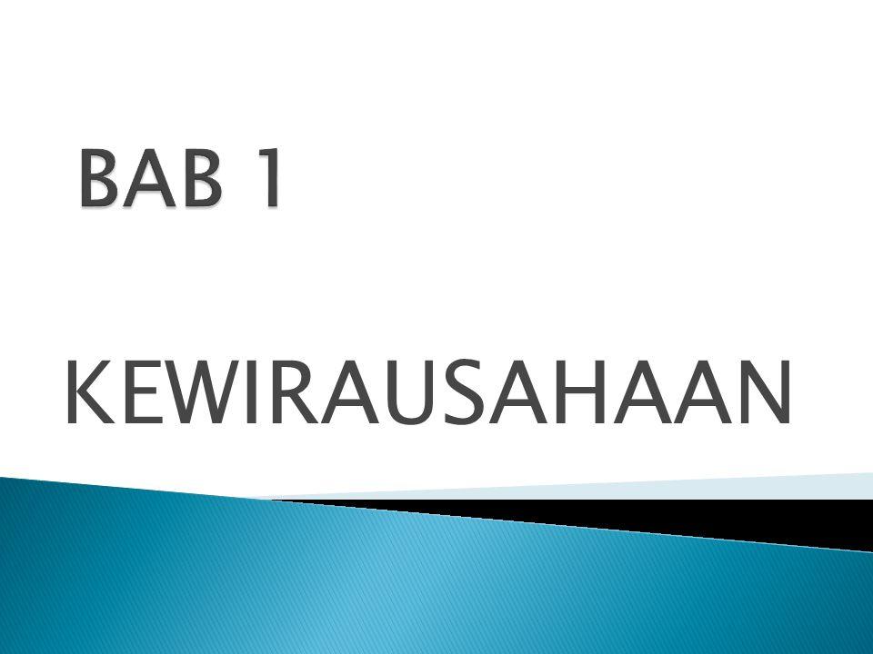 BAB 1 KEWIRAUSAHAAN