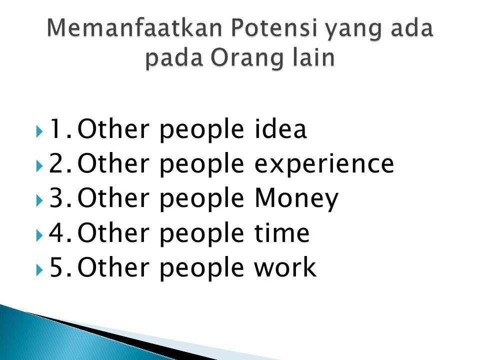 Memanfaatkan Potensi yang ada pada Orang lain