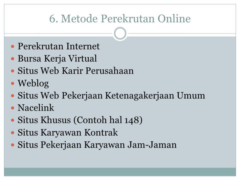 6. Metode Perekrutan Online