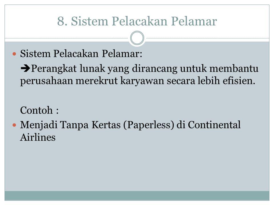 8. Sistem Pelacakan Pelamar