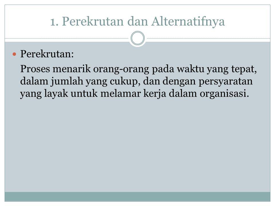 1. Perekrutan dan Alternatifnya