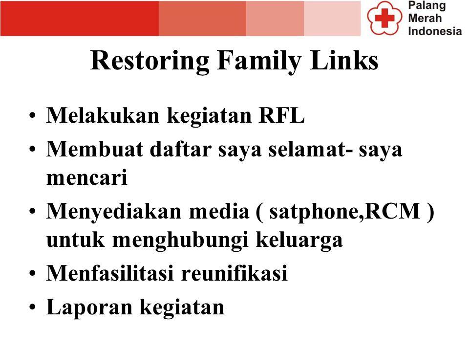 Restoring Family Links