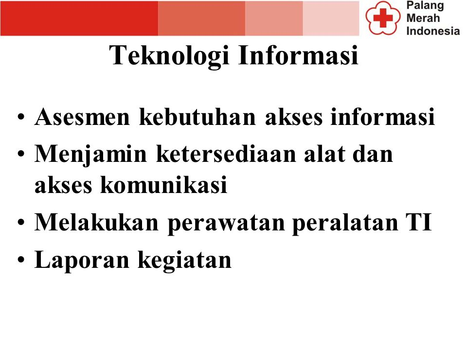 Teknologi Informasi Asesmen kebutuhan akses informasi