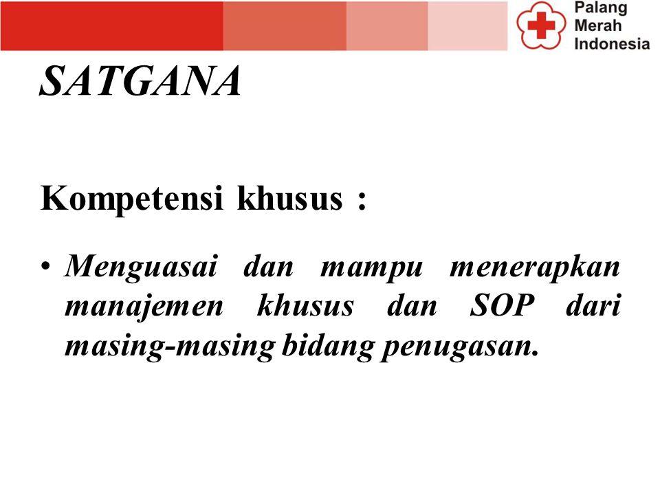 SATGANA Kompetensi khusus :