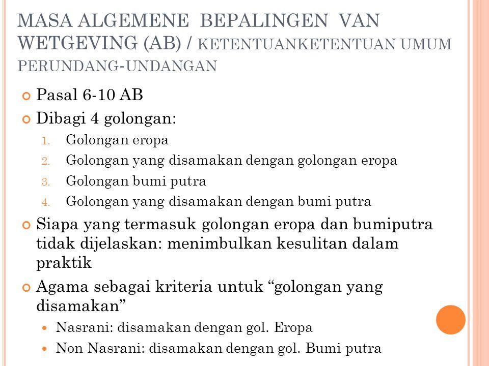 MASA ALGEMENE BEPALINGEN VAN WETGEVING (AB) / ketentuanketentuan umum perundang-undangan