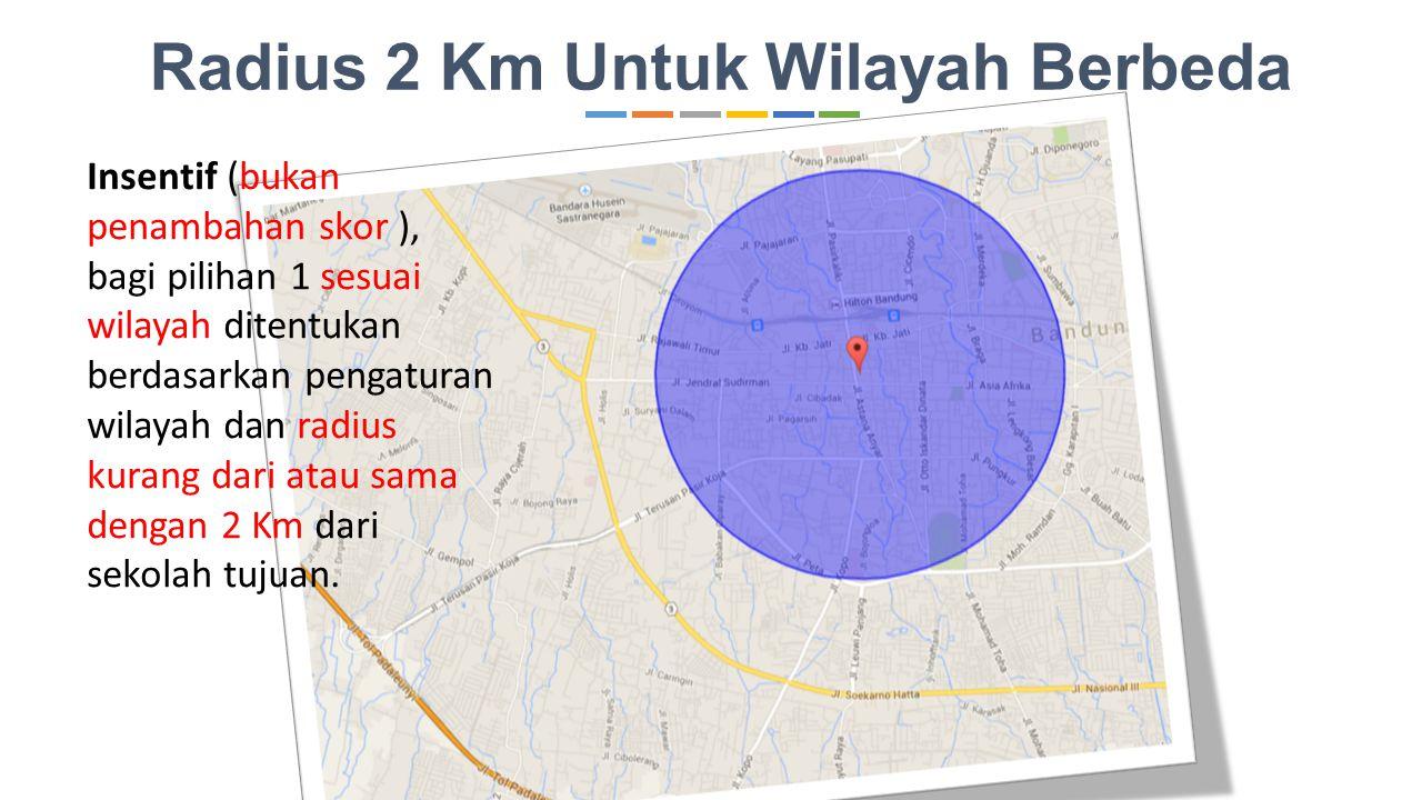 Radius 2 Km Untuk Wilayah Berbeda