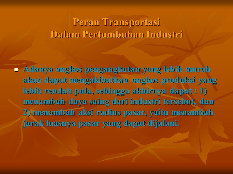 Peran Transportasi Dalam Pertumbuhan Industri
