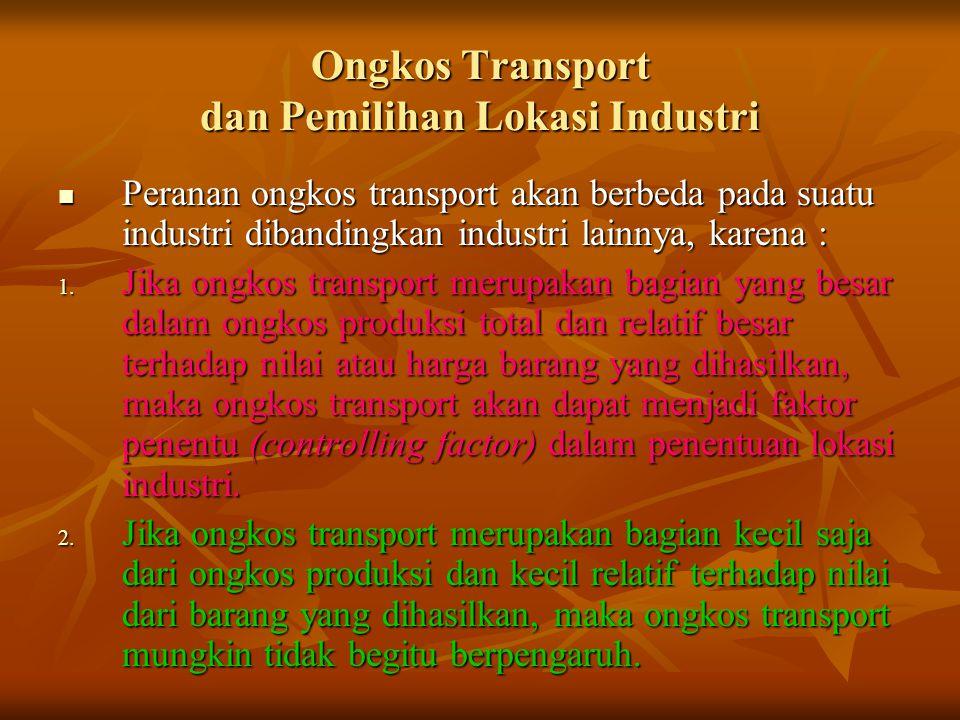 Ongkos Transport dan Pemilihan Lokasi Industri