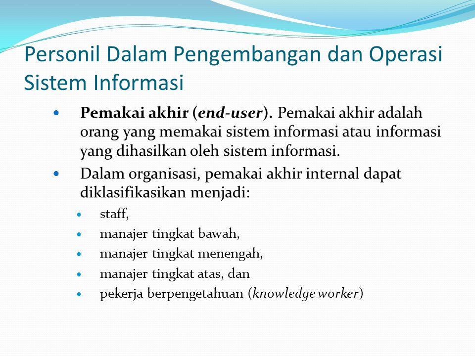 Personil Dalam Pengembangan dan Operasi Sistem Informasi