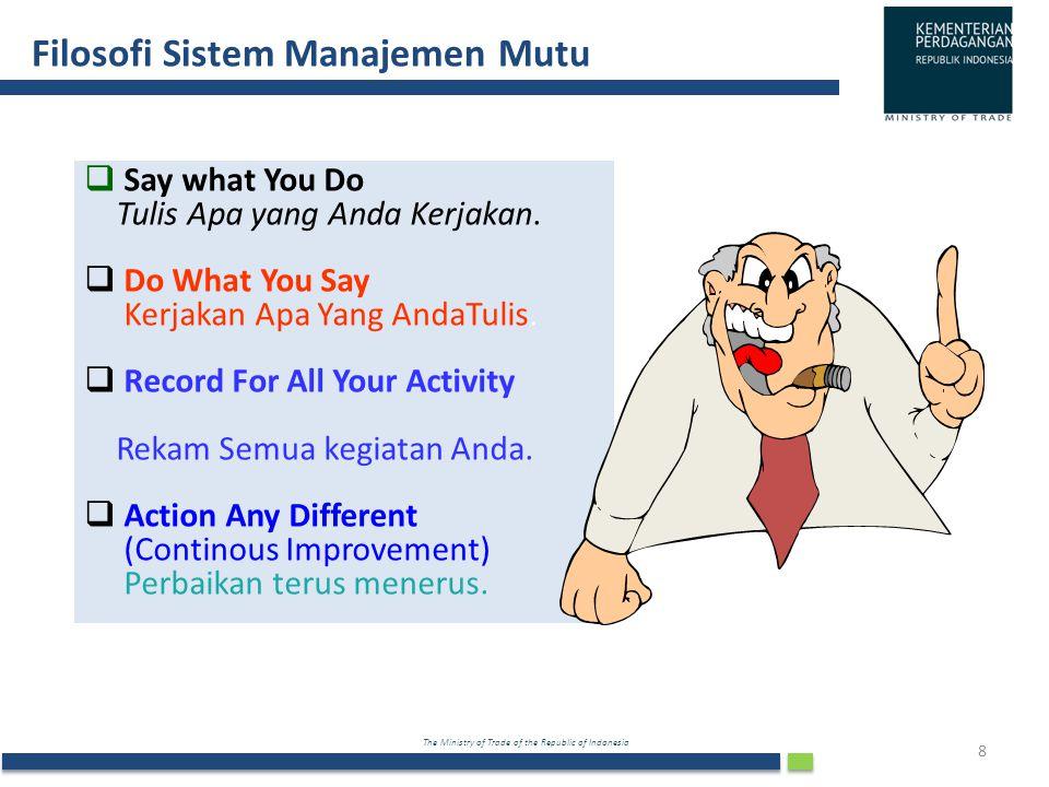 Filosofi Sistem Manajemen Mutu