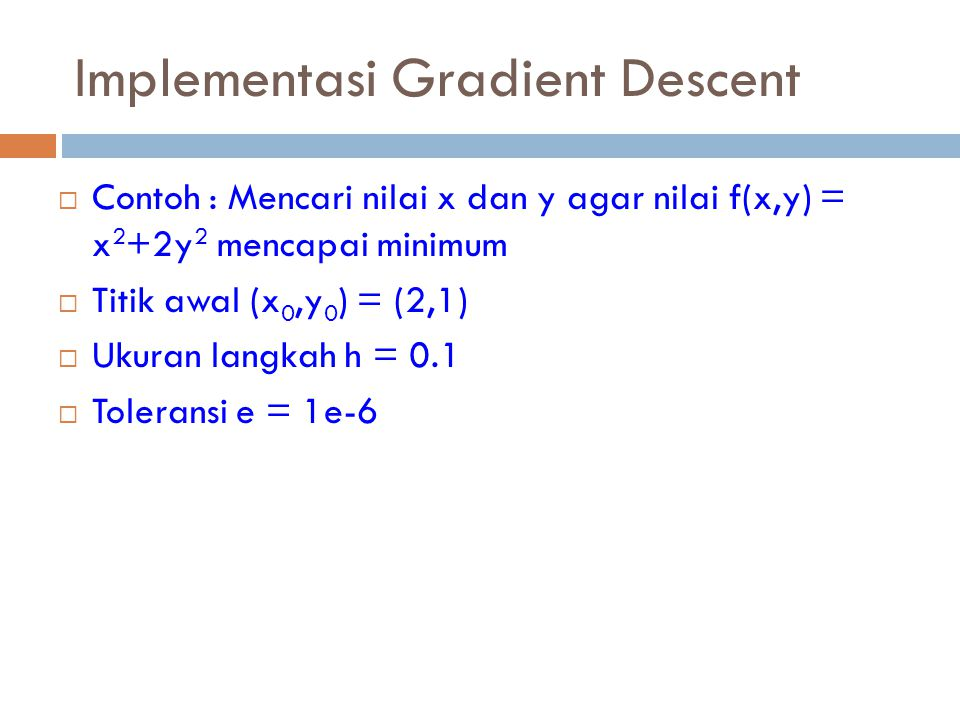 Implementasi Gradient Descent