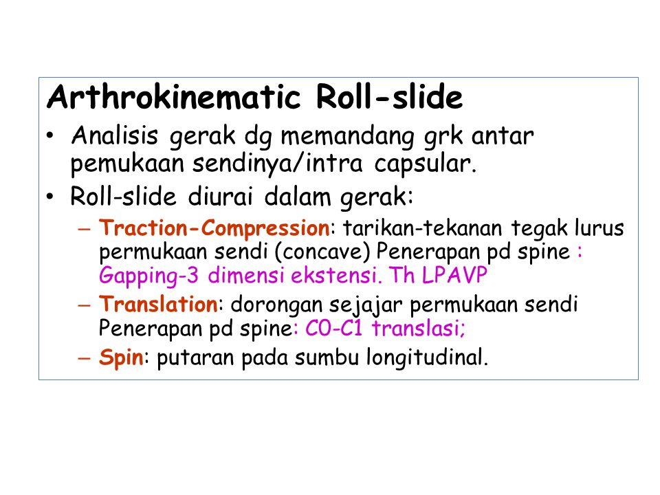 Arthrokinematic Roll-slide