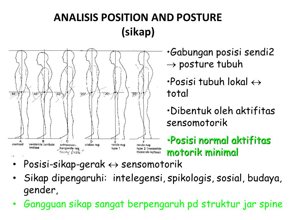 ANALISIS POSITION AND POSTURE (sikap)