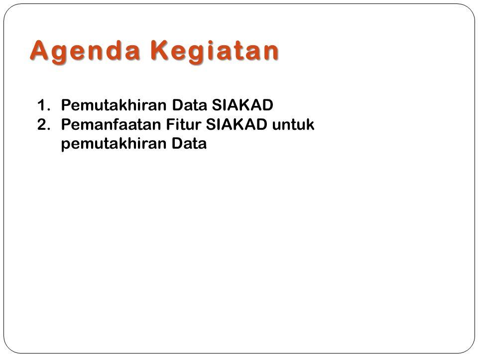 Agenda Kegiatan Pemutakhiran Data SIAKAD