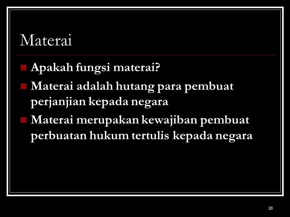 Materai Apakah fungsi materai
