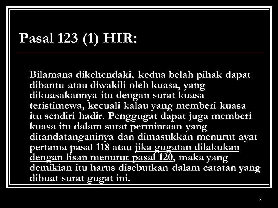 Pasal 123 (1) HIR: