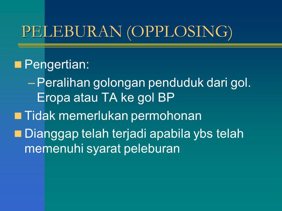 PELEBURAN (OPPLOSING)
