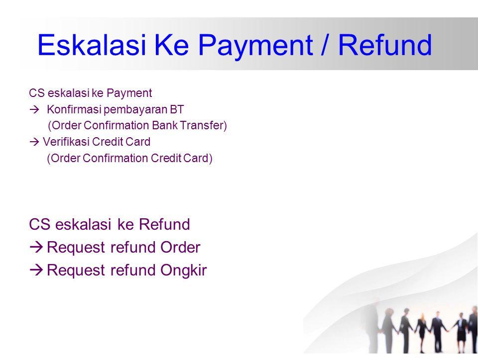 Eskalasi Ke Payment / Refund