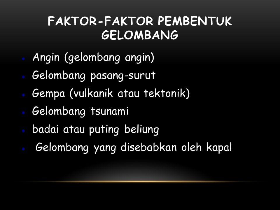 Faktor-faktor Pembentuk Gelombang