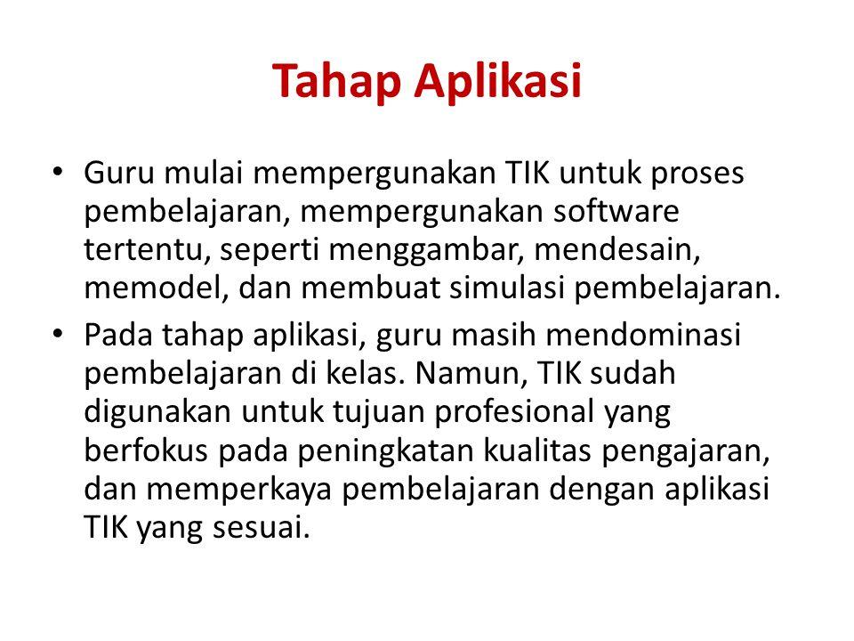 Tahap Aplikasi
