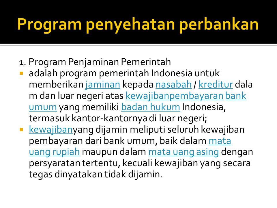 Program penyehatan perbankan