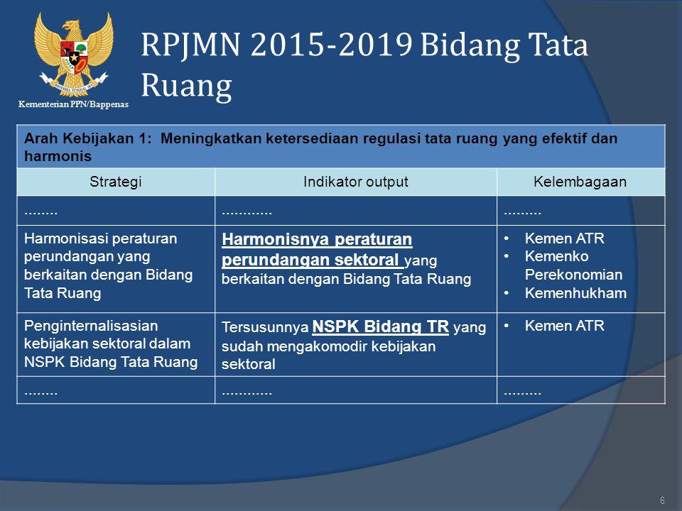 RPJMN 2015-2019 Bidang Tata Ruang