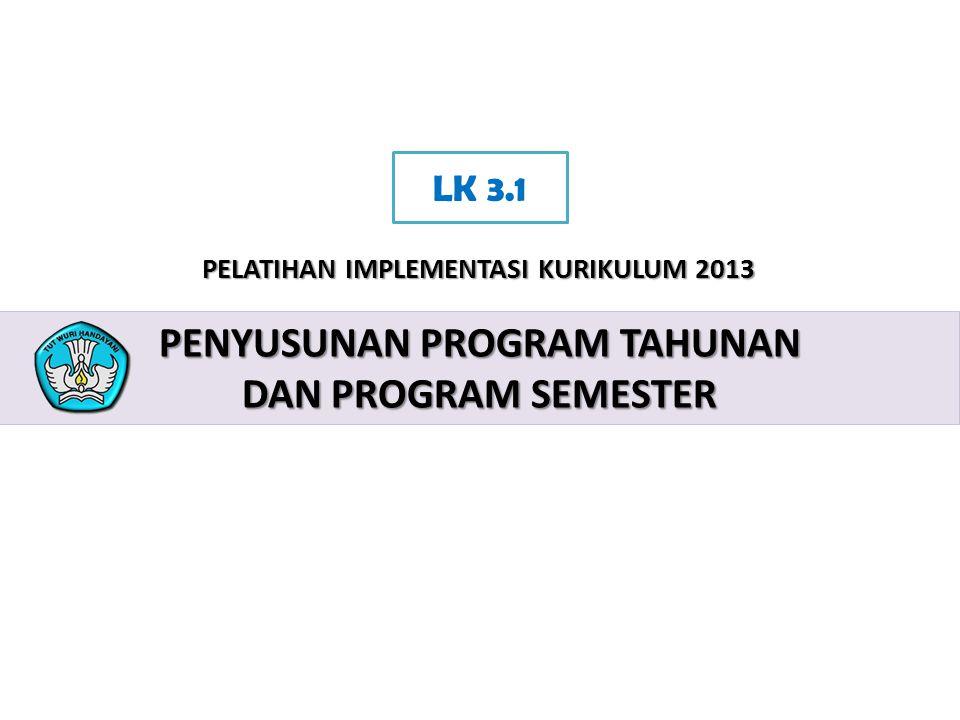 Penyusunan program tahunan dan program semester