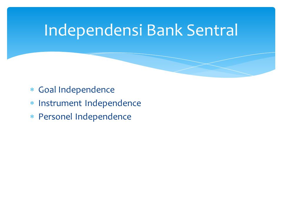 Independensi Bank Sentral