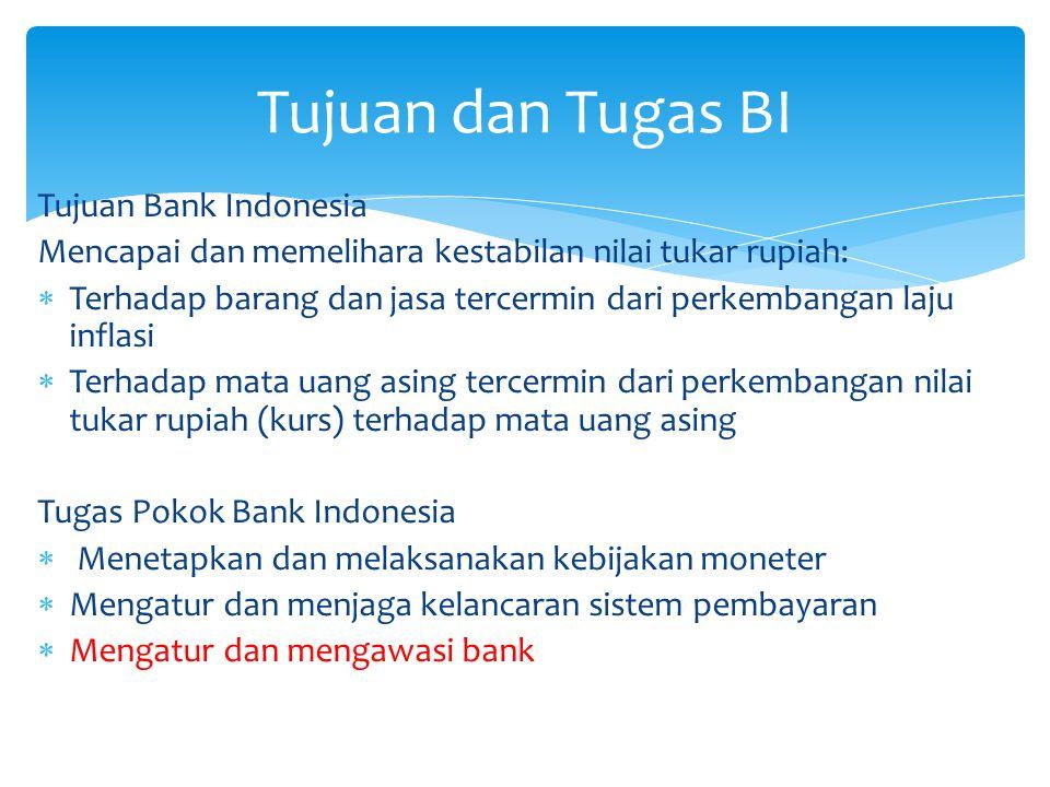 Tujuan dan Tugas BI Tujuan Bank Indonesia