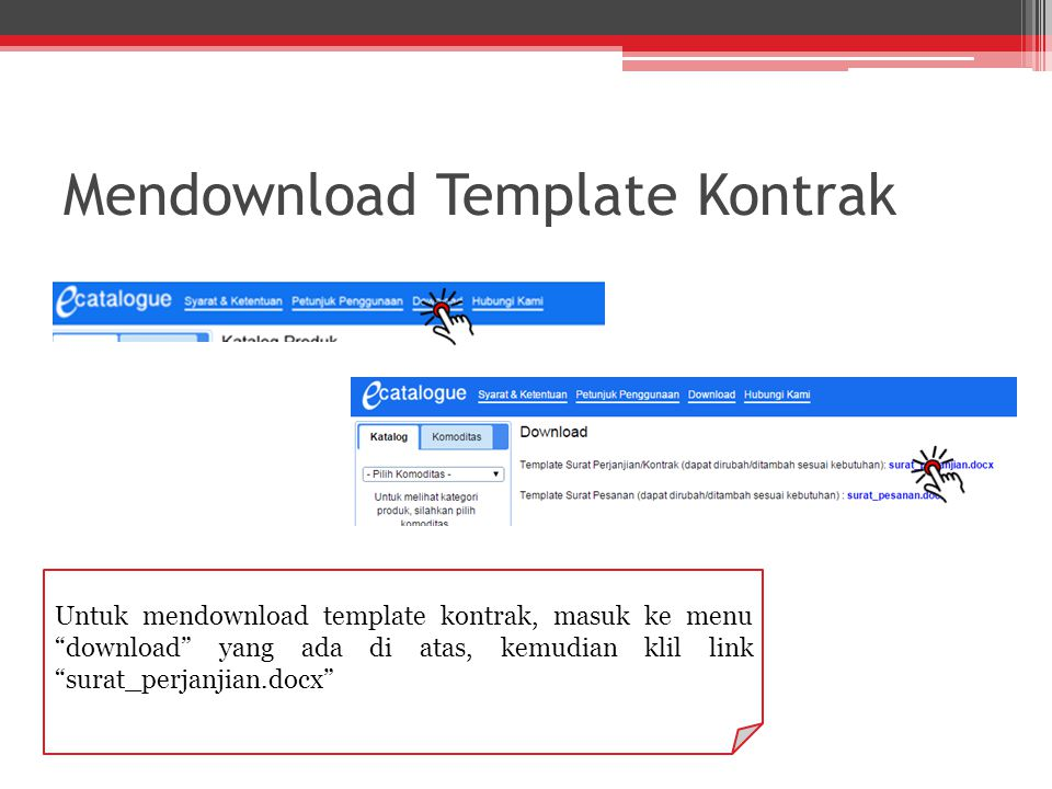 Mendownload Template Kontrak