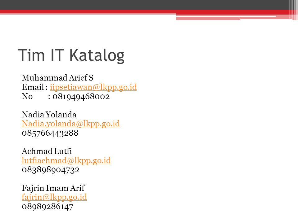 Tim IT Katalog