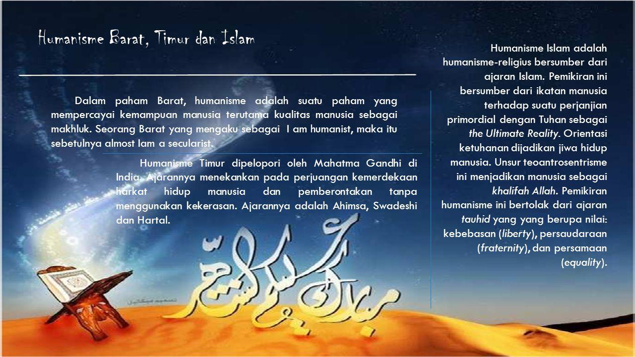 Humanisme Barat, Timur dan Islam