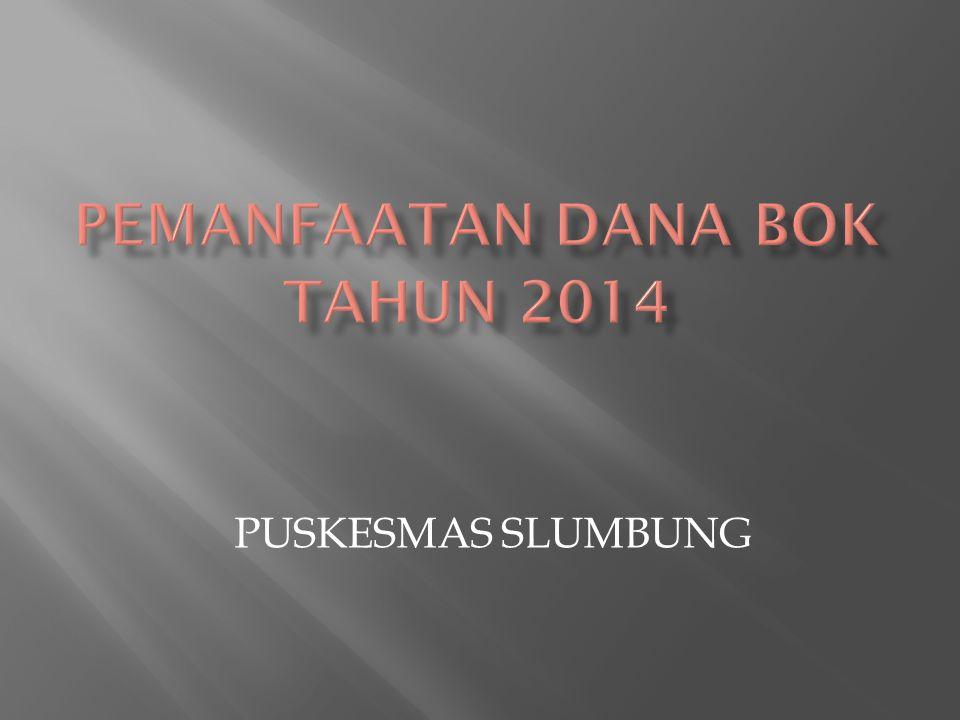PEMANFAATAN DANA bok TAHUN 2014