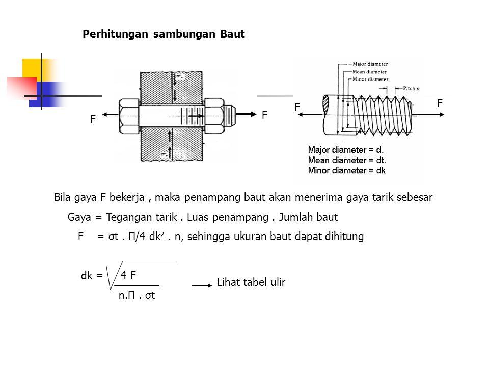 Perhitungan sambungan Baut