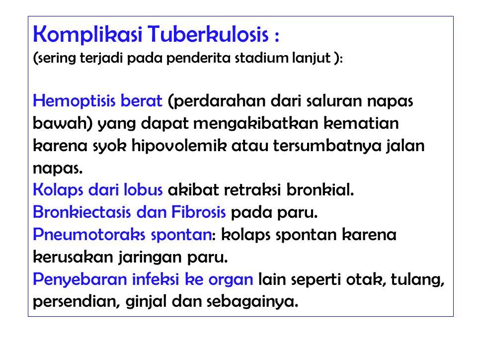 Komplikasi Tuberkulosis :