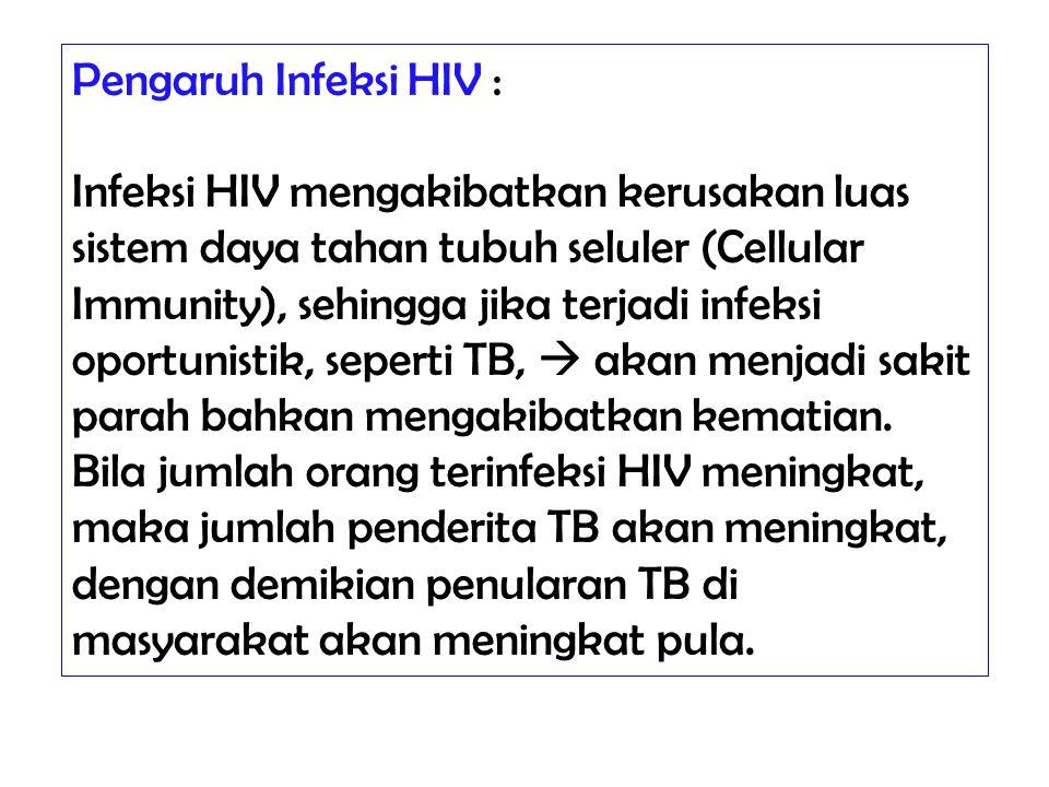 Pengaruh Infeksi HIV :