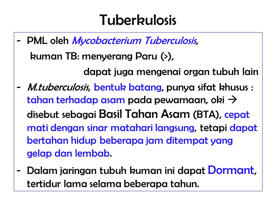 Tuberkulosis PML oleh Mycobacterium Tuberculosis,