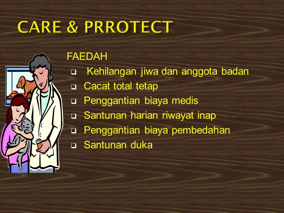 CARE & PRROTECT FAEDAH Kehilangan jiwa dan anggota badan